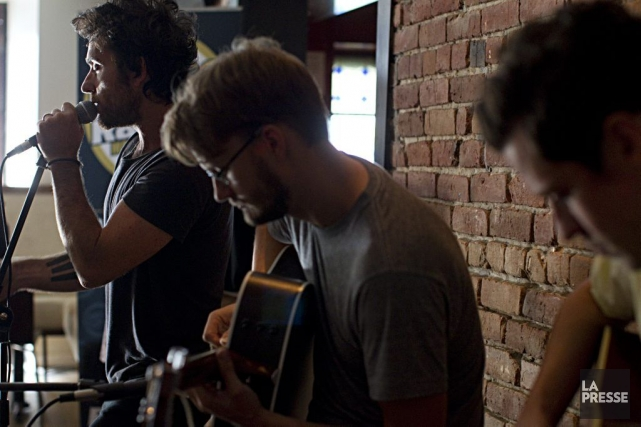 Le groupe Le Trouble en répétition au Pub... (Photo: Alain Décarie, La Presse)