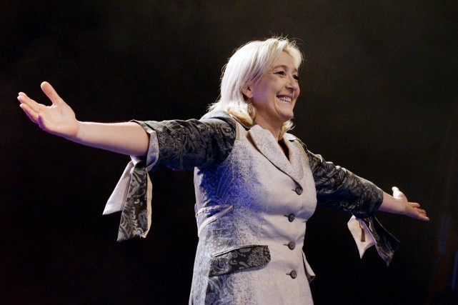 Pour Brigitte Bardot, Marine Le Pen (ci-dessus) représente... (PHOTO PIERRE ANDRIEU, ARCHIVES AFP)