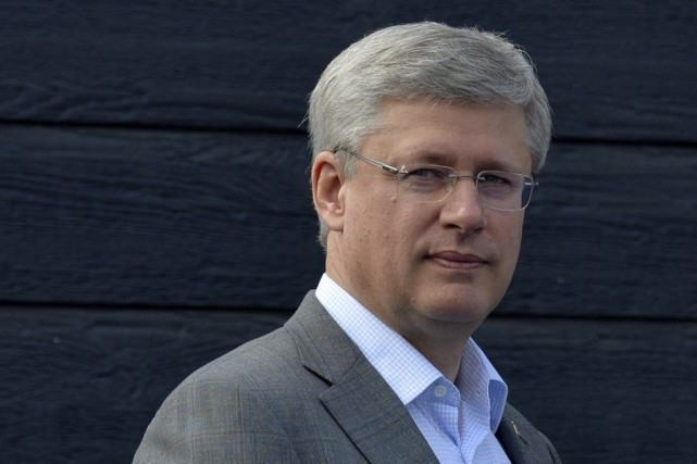 Stephen Harper lors de son passage au Yukon,... (Photo PC)