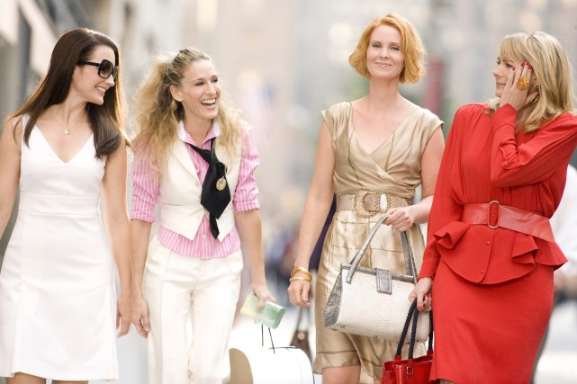 Sarah Jessica Parker et ses copines deSex and... (Photo CRAIG BLANKENHORN, Archives Bloomberg)