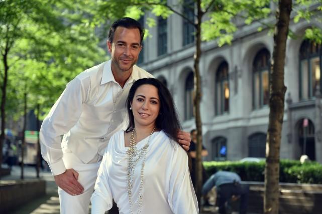 Les cofondateurs du Dîner en blanc, Sandy Safi... (Photo Stan HONDA, AFP)