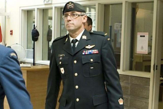 L'adjudant André Gagnon... (PHOTO CLÉMENT ALLARD, LA PRESSE CANADIENNE)