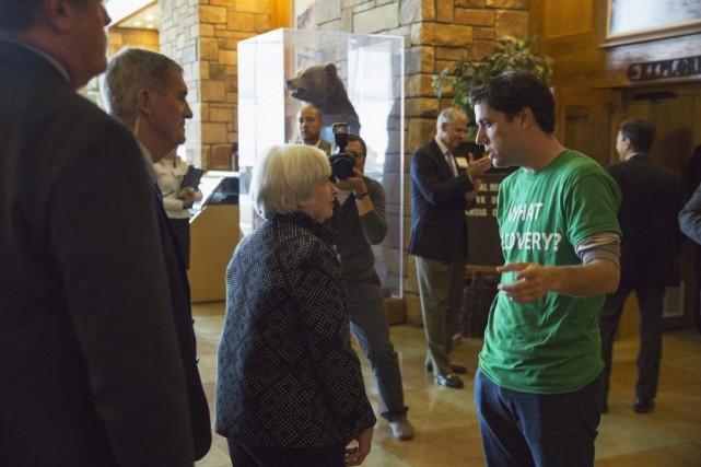 La présidente de la Réserve fédérale Janet Yellen... (Photo David Stubbs, REUTERS)