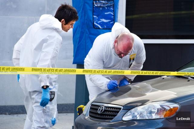 Il y a eu quatre homicides de plus que l'année précédente au pays en 2014, et... (Photo Martin Roy, archives LeDroit)