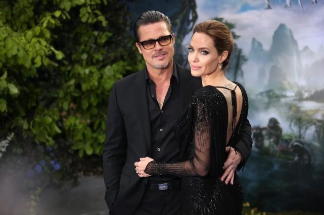 Brand Pitt et Angelina Jolie... (Photo archives AP)