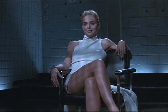 Sharon Stone dans Basic Instinct ... (Photo fournie par Tristar Pictures)