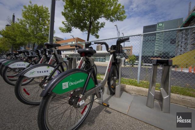 En moyenne, à peine 17 cyclistes par jour... (Photo André Pichette, La Presse)