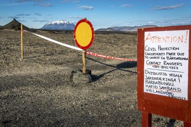 Un niveau d'alerte «orange» signifie qu'une agitation de... (PHOTO ARNI SAEBERG, AFP)