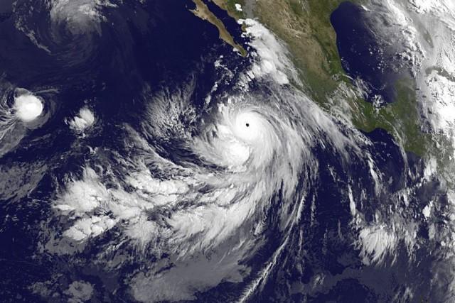 Marie est accompagnée de vents soufflant jusqu'à 315... (PHOTO NASA)