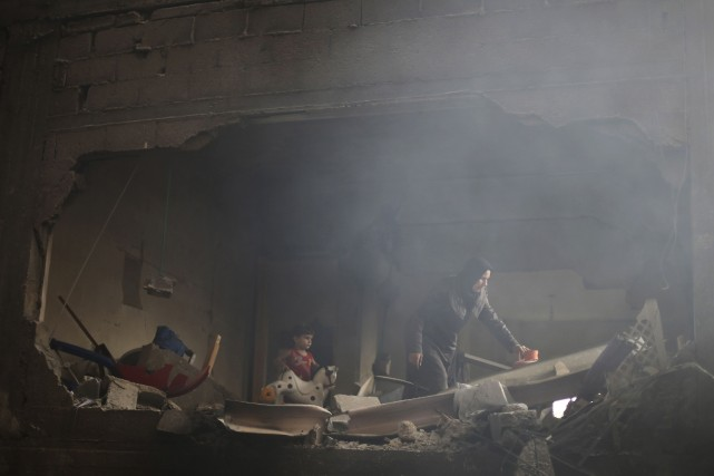Deux Palestiniens ont été tués durant la nuit de dimanche à lundi lors d'un... (Photo IBRAHEEM ABU MUSTAFA, REUTERS)