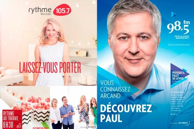 Annonces publicitaires pour les stations Rythme FM et... (Photos fournies par Cogeco)