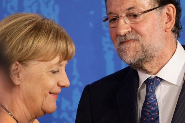 La chancelière allemande Angela Merkel a rencontré le... (Photo Miguel Vidal, Reuters)