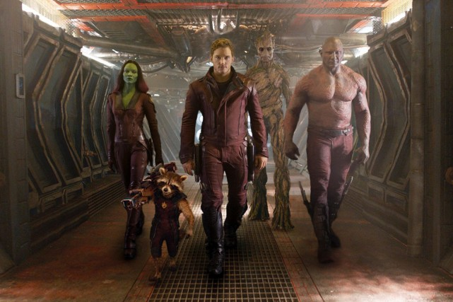Guardians of the Galaxy est resté bien accroché en... (Photo: archives AP)