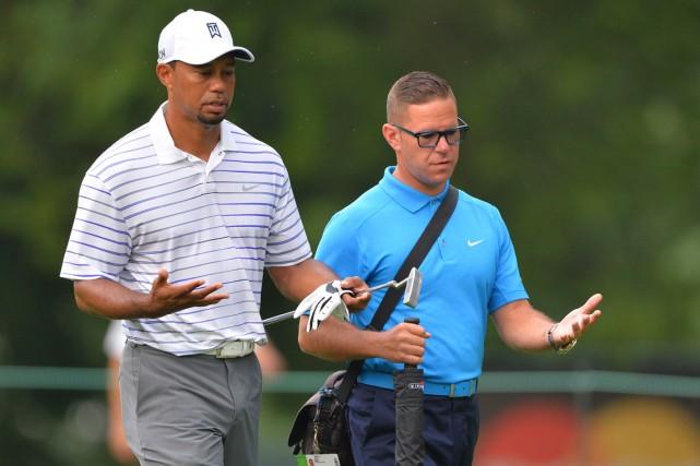 Sean Foley (à droite) était l'entraîneur de Tiger... (Photo Tommy Gilligan, USA Today)