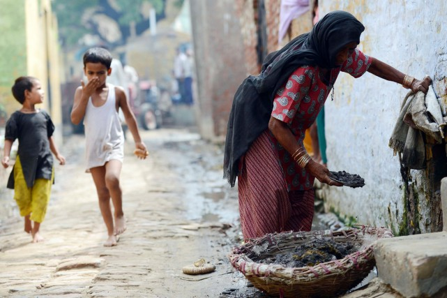 1 milliard d'humains ne disposent que de 1,25... (PHOTO PRAKASH SINGH, ARCHIVES AFP)