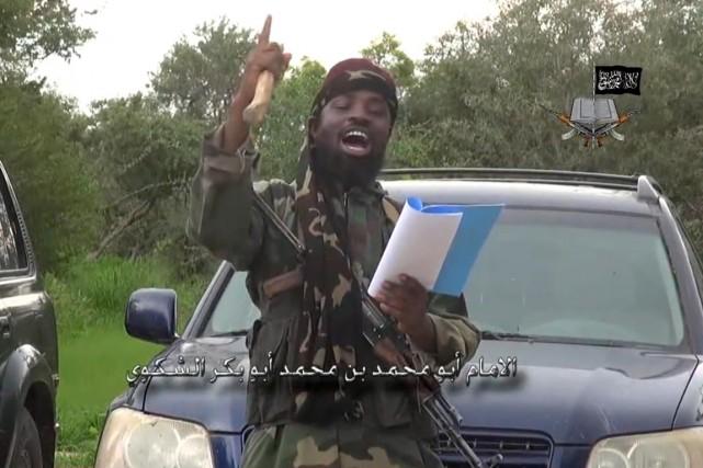 Shekau n'a pas expliqué dans la vidéo diffusée... (IMAGE AFP/BOKO HARAM)
