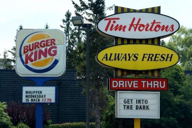 Burger King et Tim Hortons ont confirmé qu'elles... (PHOTO SEAN KILPATRICK, PC)