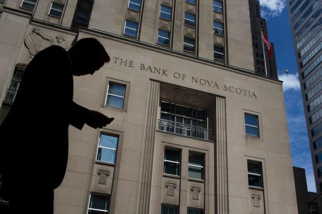 La Banque Scotia (T.BNS)a réalisé un bénéfice net hors... (PHOTO ARCHIVES BLOOMBERG)