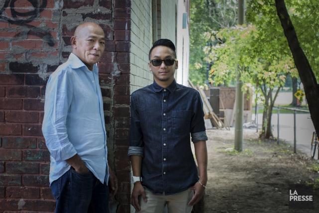 Les chefs M. Hà et Ross Ninja San.... (PHOTO EDOUARD PLANTE-FRÉCHETTE, LA PRESSE)