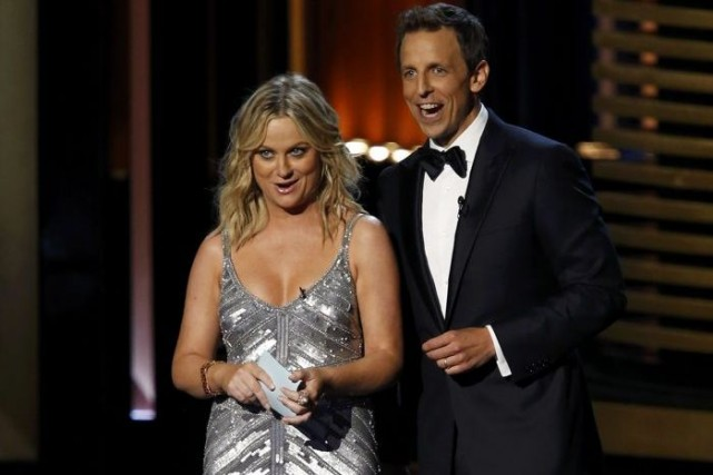 Amy Poehler et Seth Meyers... (Photo: Reuters)