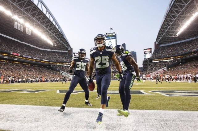 Les Seahawks de Seattle devront annuler deux séances d'entraînement lors du... (Photo Joe Nicholson, USA Today Sports)