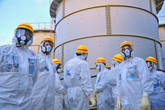 Des travaux sont effectués depuis 2011 à la... (Photo IAEA, AFP)
