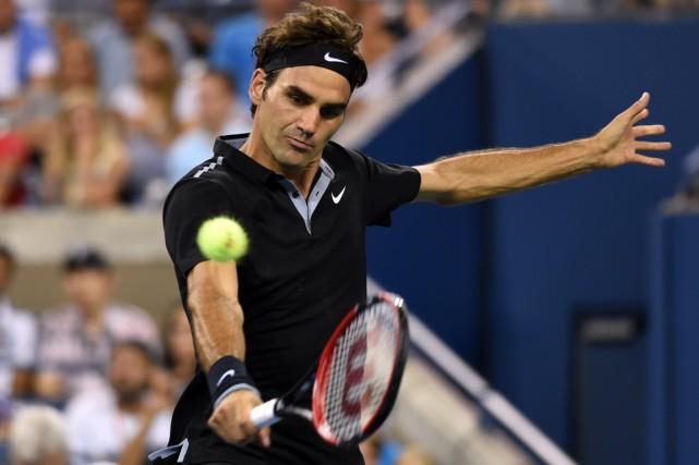 Roger Federer a dominé l'Australien Marinko Matosevic 6-3,... (Photo Don Emmert, AFP)