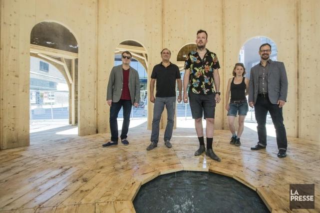 La Maison fontaine est une installation éphémère créée... (Photo: Édouard Plante-Fréchette, La Presse)