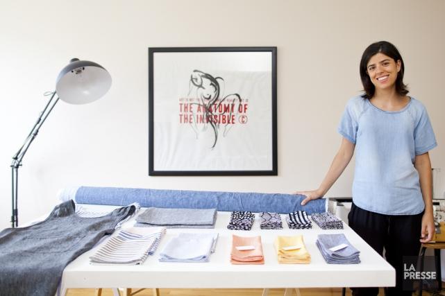 Esthétisme, rigueur et techniques: Mariana Robledo puise son... (Photo Sarah Mongeau-Birkette, La Presse)