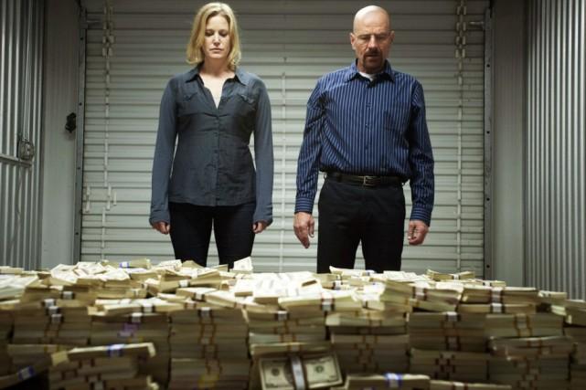 Anna Gunn et Bryan Cranston dans Breaking Bad:... (Photo: fournie par AMC Shows)