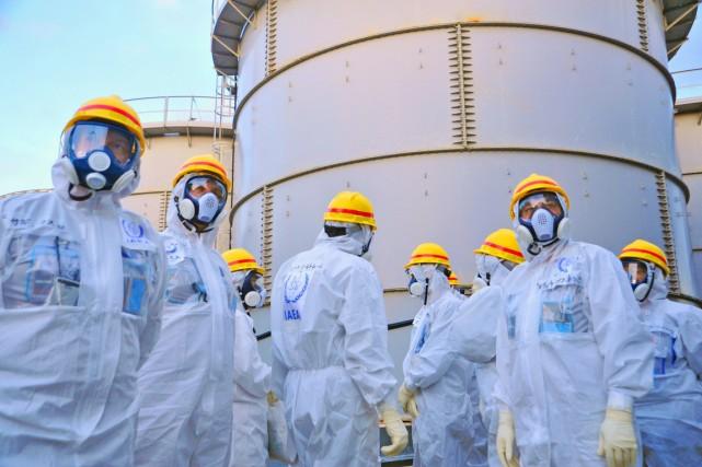 Des travaux sont effectués depuis 2011 à la... (PHOTO ARCHIVES AFP/AIEA)