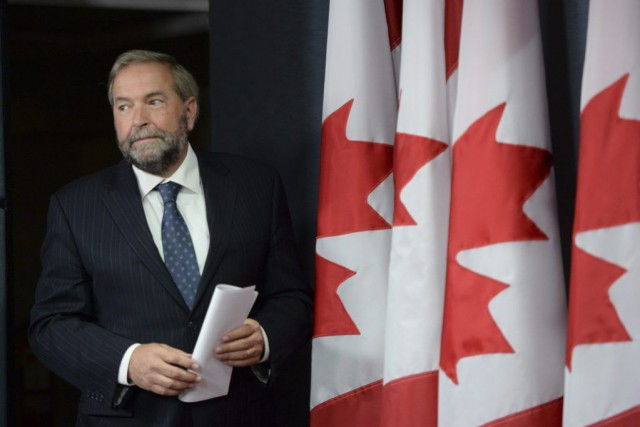 Le chef du NPD Thomas Mulcair... (PHOTO ARCHIVES LA PRESSE CANADIENNE)