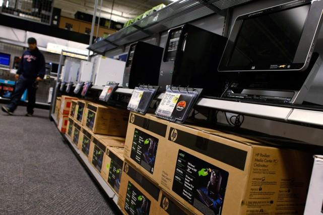 Le recul des ventes mondiales de PC devrait être moins fort que prévu cette... (Photo archives Getty Images)