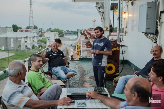 L'équipage refusait jusqu'à maintenant de quitter le navire,... (PHOTO EDOUARD PLANTE-FRÉCHETTE, LA PRESSE)