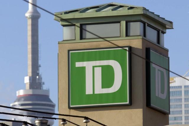 La Banque TD (T.TD) a dégagé un bénéfice net de 2,1 milliards... (Photo Norm Betts, Archives Bloomberg)