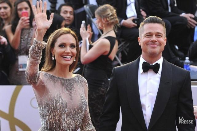 Angelina Jolie et Brad Pitt aux Oscars en... (Photo: archives La Presse)