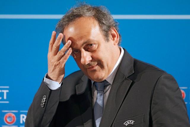 Le président de l'UEFA, Michel Platini.... (Photo Lionel Cironneau, archives AP)