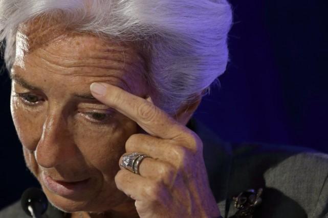 Christine Lagarde est mise en cause pour son... (PHOTO PHILIPPE WOJAZER, ARCHIVES REUTERS)