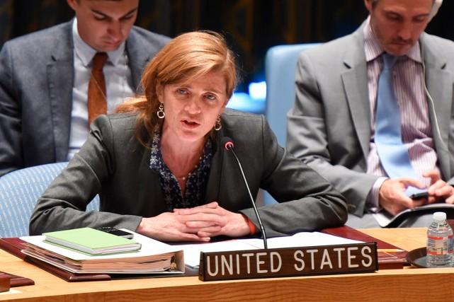 L'ambassadrice américaine à l'ONU Samantha Power... (Photo Don Emmert, archives Agence France-Presse)