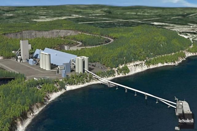 Le projet de cimenterie de Port-Daniel-Gascons.... (Photothèque Le Soleil)