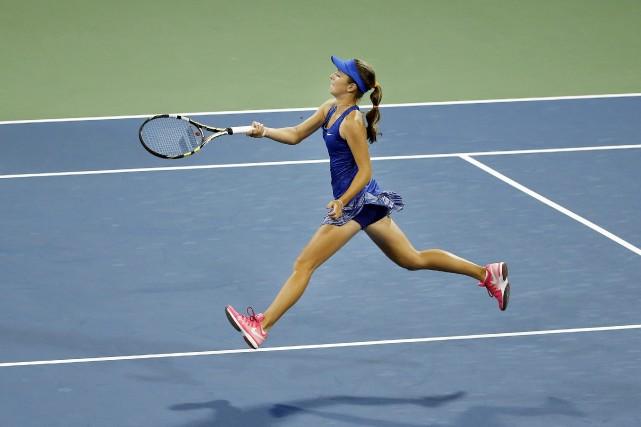 CiCi Bellis, la première adolescente de 15 ans à gagner un match aux... (Photo Jason DeCrow, AP)
