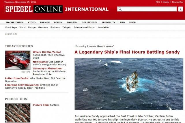 Le Spiegel Online, qui revendique 10,2 millions de... (Image tirée de l'internet)
