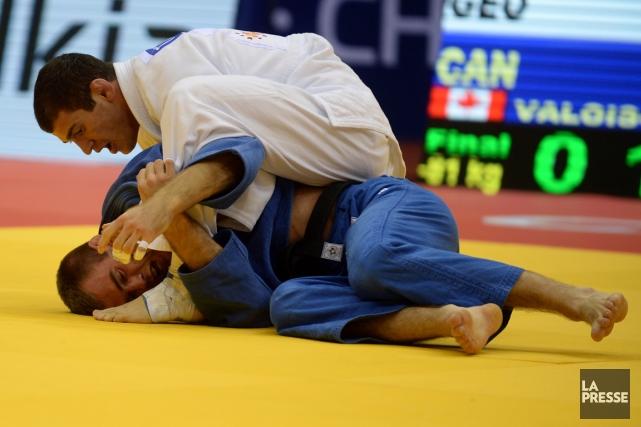 Le judoka Antoine Valois-Fortier a confirmé son immense... (Photo Vasily Maximov, AFP)