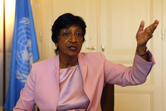 Le Haut-Commissaire aux Droits de l'Homme de l'ONU,Navanethem... (Photo Ruben Sprich, Reuters)