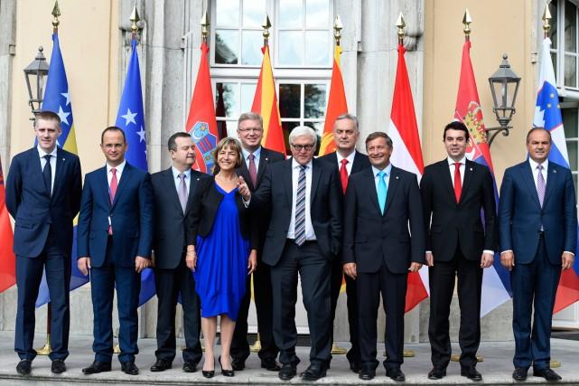 Le ministre des Affaires étrangères allemand Frank-Walter Steinmeier,... (PHOTO0 TOBIAS SCHWARZ, AGENCE FRANCE-PRESSE)