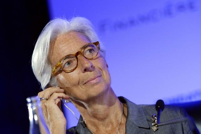 Christine Lagardeest mise en cause par la justice... (PHOTO MIGUEL MEDINA, ARCHIVES AFP)