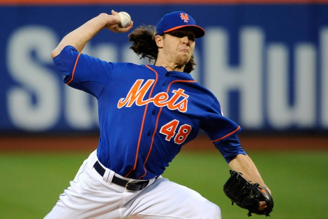 Jacob deGromdes Mets de New York... (Photo Kathy Kmonicek, Associated Press)