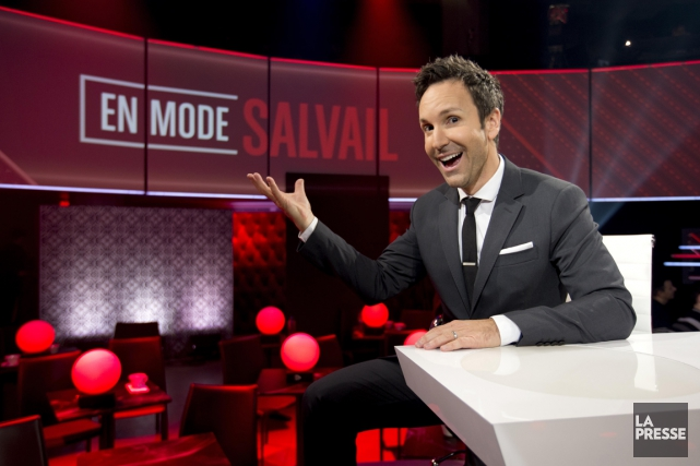 En mode Salvail... (Photo: Alain Roberge, La Presse)