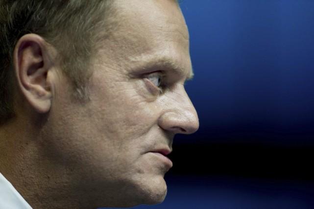 Le premier ministre polonais Donald Tusk a été... (PHOTO ALAIN JOCARD, AFP)