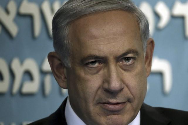 Le premier ministre israélien, Benyamin Nétanyahou.... (PHOTO THOMAS COEX, AFP)